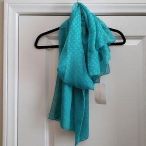 Zara teal scarf